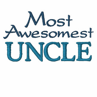 Most Awesomest Uncle Embroidered Hooded Sweatshirts