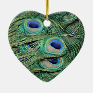 Most Beautiful Peacock Feathers Bold Blue Eyes Christmas Ornament