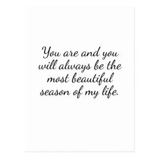 Most Beautiful Season Inspirational Postcard