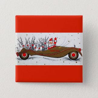 Most Beautiful Vintage Christmas Santa 15 Cm Square Badge