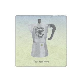 Most Coffee Wins Funny Espresso Maker Stone Magnet