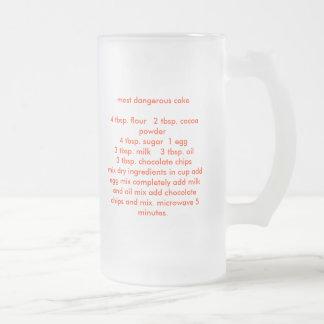 most dangerous cake4 tbsp. flour   2 tbsp. coco... frosted glass mug