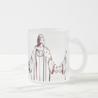 Most immaculate sacred holy heart of Jesus christ 10 Oz Frosted Glass Coffee Mug