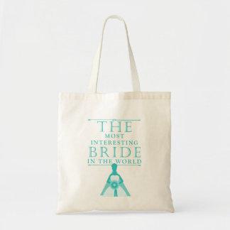 Most Interesting Bride Bachelorette Bag Budget Tote Bag