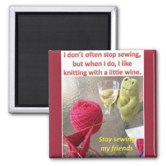 Most Interesting Frog in the World Square Magnet