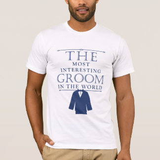 Most Interesting Groom Bachelor Tee, Blue T-Shirt