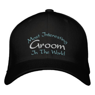Most Interesting Groom In The World Wedding Embroidered Hats