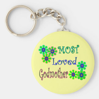 """""""Most Loved Godmother"""" Gifts Key Chains"""