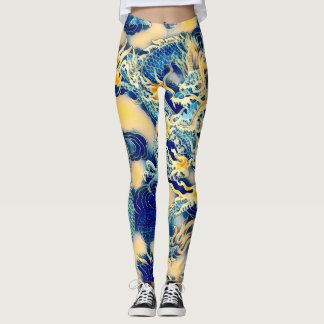 Most Popular Ancient Chinese Dragon Scroll Art Leggings