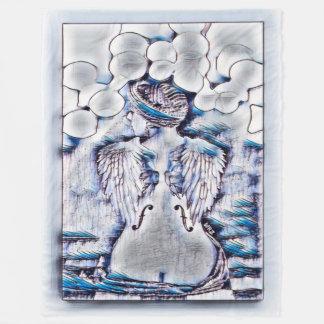 Most Popular Angel Music Watercolor Ink Art Fleece Blanket