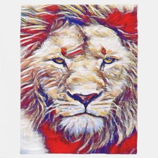 Most Popular Brilliant Watercolor Lion Fleece Blanket