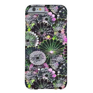 Most Popular Chalkboard Flowers Art Barely There iPhone 6 Case