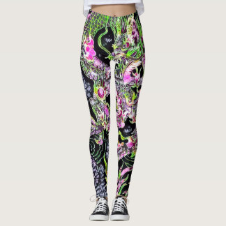 Most Popular Chinese Dragon Black Light Special Leggings