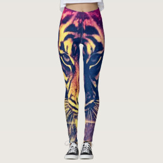 Most Popular Psychedelic Tiger Bright Leggings