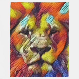 Most Popular Rainbow Lion Fleece Blanket