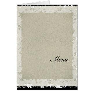 Most Popular Wedding Menu Old Paper Card