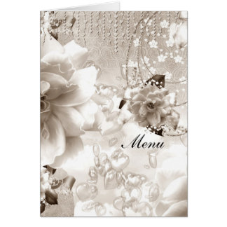 Most Popular Wedding Menu Sepia Card