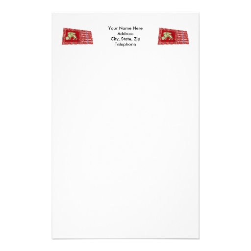 Most Serene Republic of Venice Waving Flag Stationery