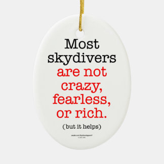 Most Skydivers Ceramic Oval Decoration