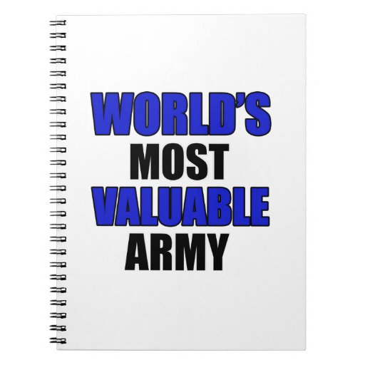 most valuable Army Spiral Notebook