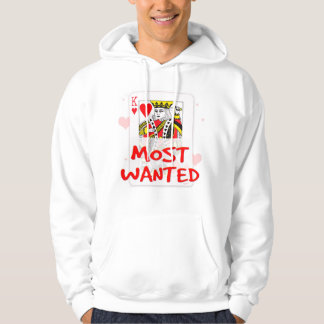 MOST WANTED LOVE M Men's Basic Hooded Sweatshirt
