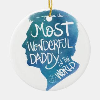 Most wonderful daddy round ceramic decoration