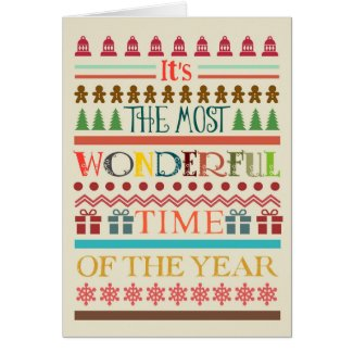 Most Wonderful Time Christmas Greeting Card