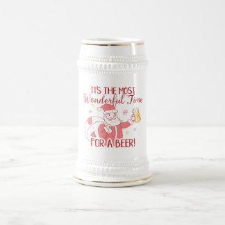 Most Wonderful Time for a Beer Santa Beer Stein
