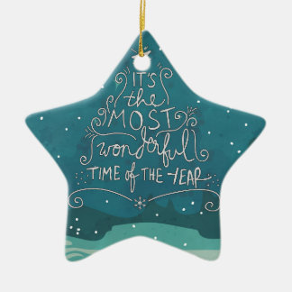 Most Wonderful Time with Name Christmas Ornament