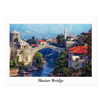 Mostar Bridge Postcard