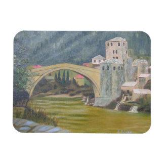 Mostar Bridge Rectangular Photo Magnet