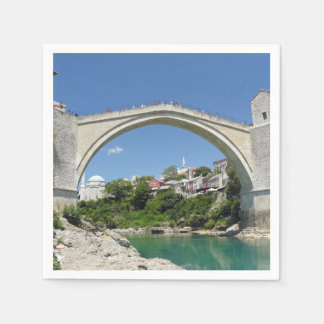 Mostar Old Bridge and Old Town Disposable Napkins