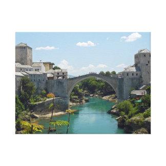 Mostar Old Bridge canvas print