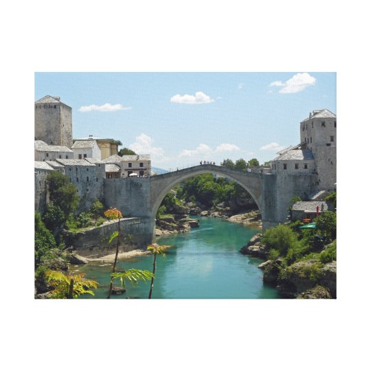 Mostar Old Bridge canvas print