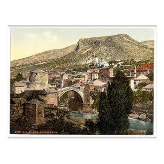 Mostar, Romer Bridge, Herzegowina, Austro-Hungary Postcard