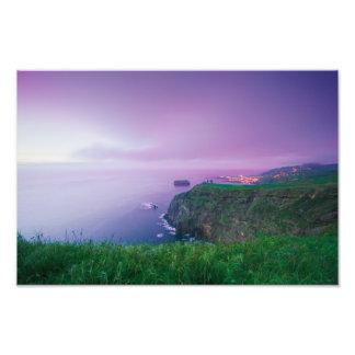 Mosteiros coastal sunset photo