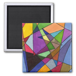 """""""Mostly Acutes"""" Abstract Art Magnet"""