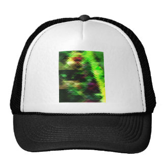 Mostly Green Triangles Cap