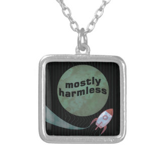 Mostly Harmless Silver Plated Necklace