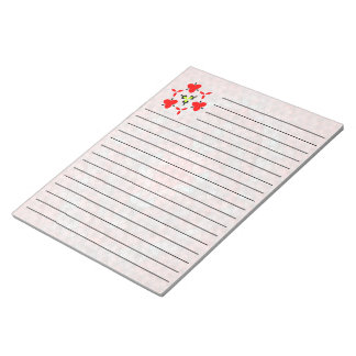Mostly red mosaic pattern notepad