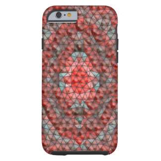Mostly red mosaic pattern tough iPhone 6 case
