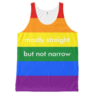 Mostly Straight But Not Narrow LGBT Ally All-Over Print Tank Top