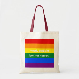 Mostly Straight But Not Narrow LGBT Ally Tote Bag