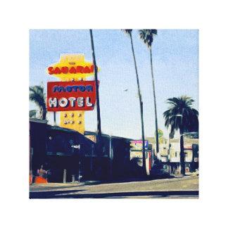 Motel On Sunset Boulevard Canvas Print