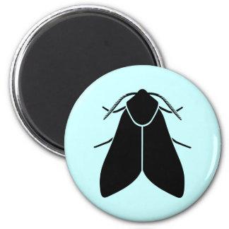 Moth 6 Cm Round Magnet