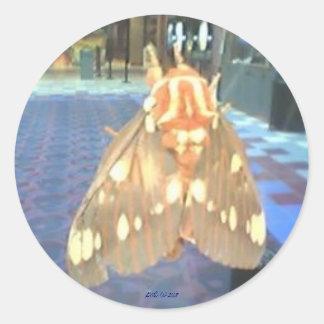 Moth Classic Round Sticker