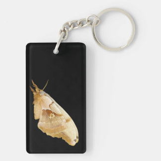 Moth Double-Sided Rectangular Acrylic Key Ring