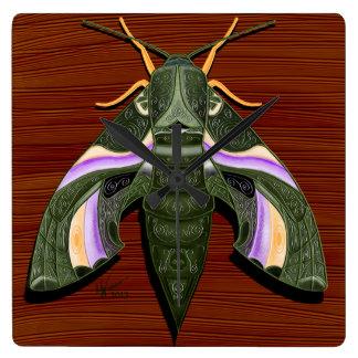 Moth Emboss Wallclocks