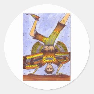 Moth Fairy Celebration Round Sticker