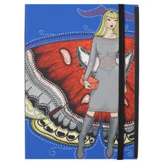 Moth fairy fashion illustration iPad cover